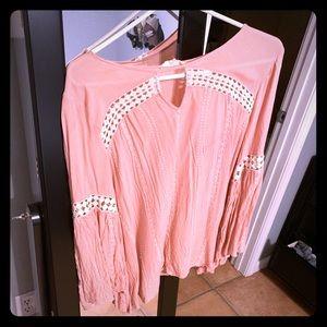 Long sleeve BoHo style boutique top